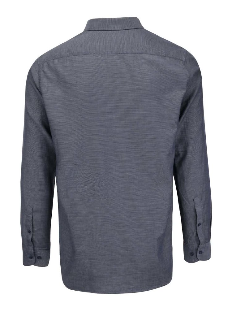 Camasa albastra inchis Selected Homme One Stef cu model discret