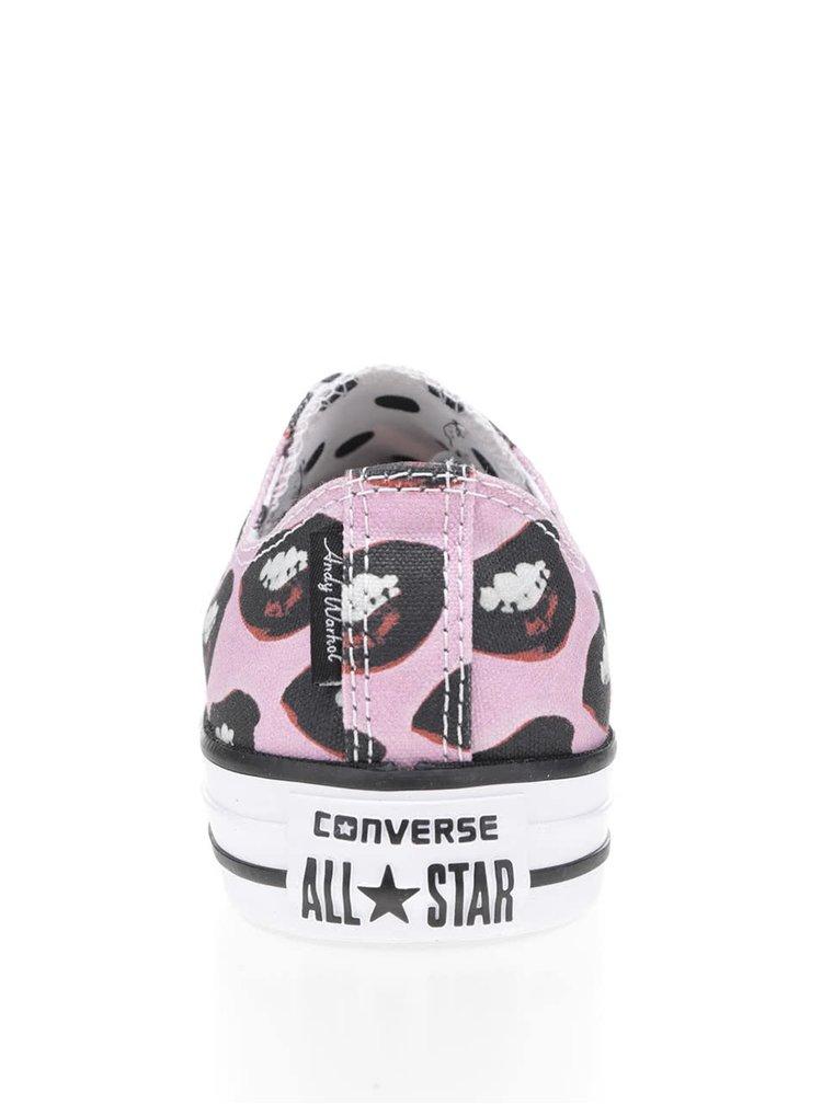 Růžové unisex vzorované tenisky Converse Chuck Taylor All Star