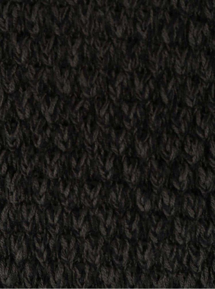 Tmavozelený melírovaný sveter VERO MODA Surf