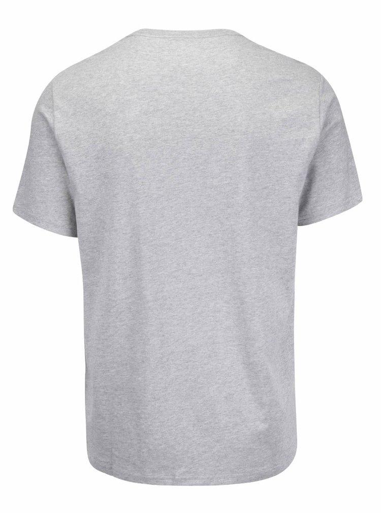 Šedé pánské triko s potiskem Converse Core boxstar
