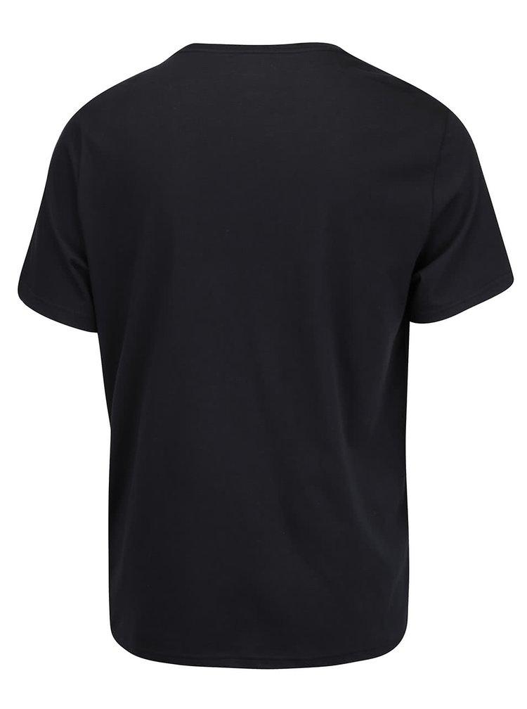 Čierne pánske tričko s logom Converse Rubber