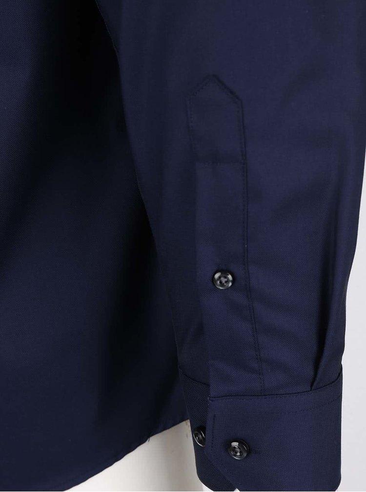 Camasa albastra inchis Seven Seas din bumbac