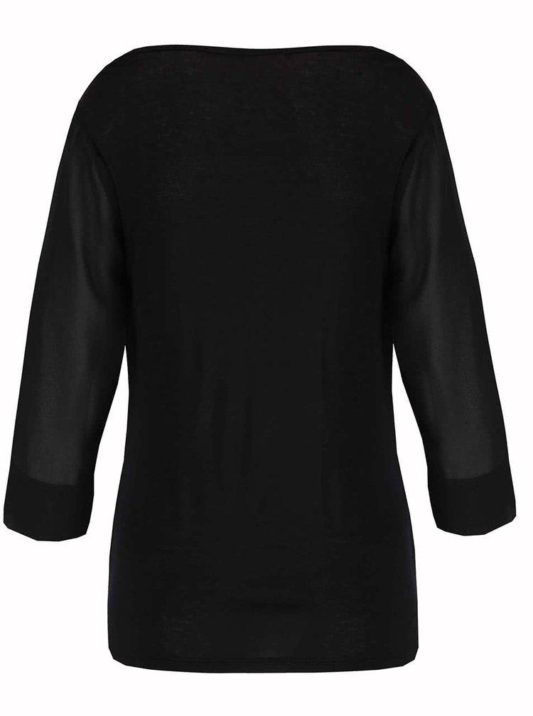 Bluza neagra Haily's Erena cu drapaje