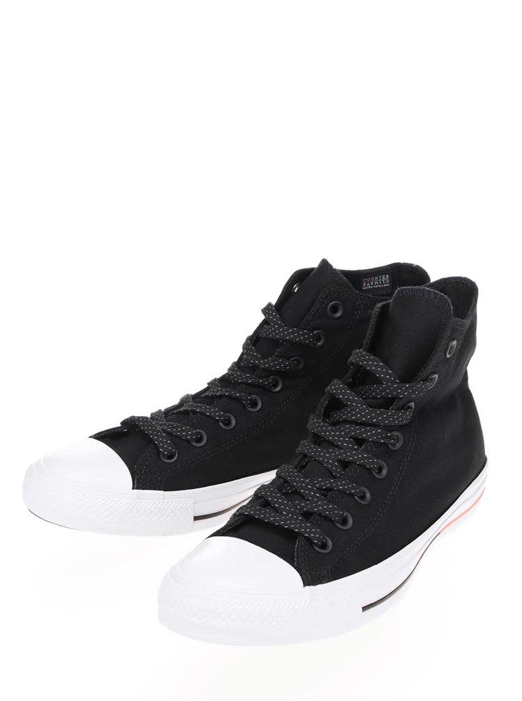 Bílo-černé unisex kotníkové tenisky s bílým logem Converse Chuck Taylor All Star