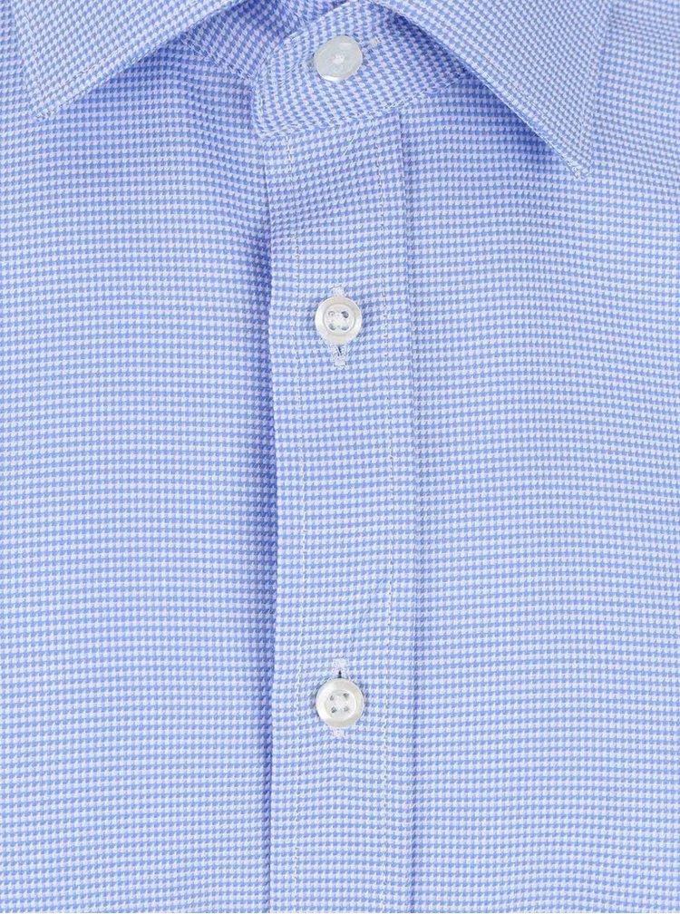 Svetlomodrá formálna slim-fit košeľa s jemným vzorom Seven Seas