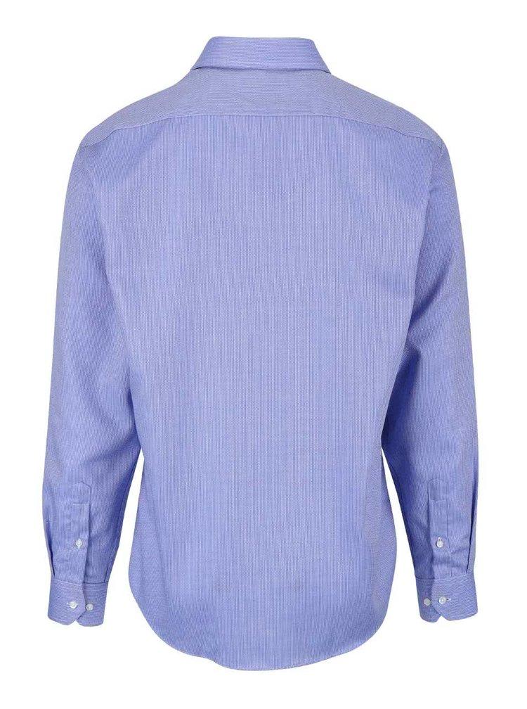 Modrá formálna košeľa s jemným vzorom Seven Seas