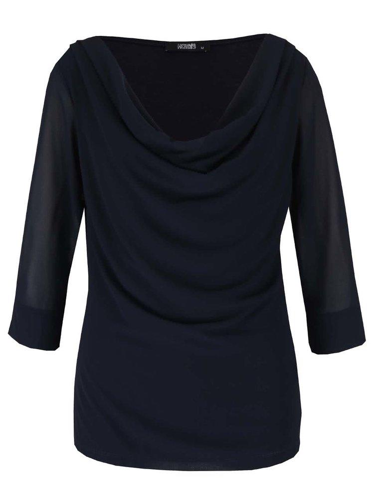 Bluza bleumarin Haily's Erena cu drapaje