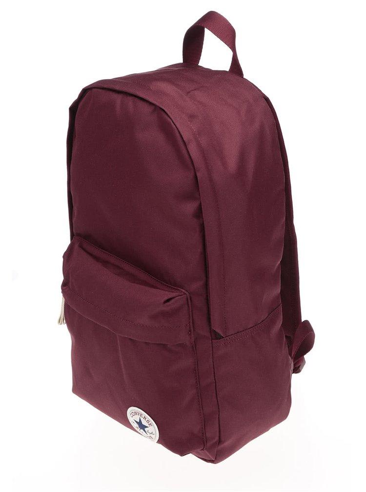Vínový batoh s logom Converse Core Poly