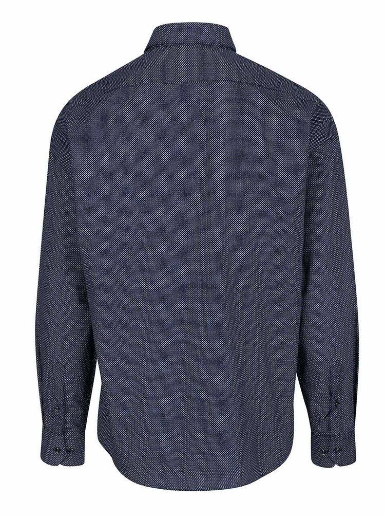 Tmavě modrá formální košile s jemným vzorem Seven Seas