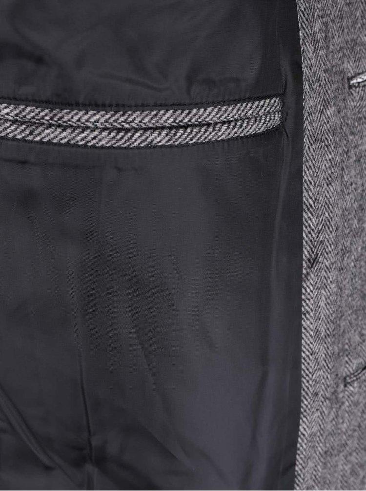 Sivý melírovaný kabát Selected Homme New Mosto