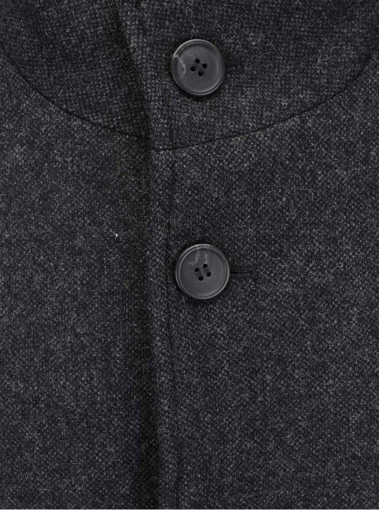 Tmavě šedý vlněný kabát Selected Homme New Mosto