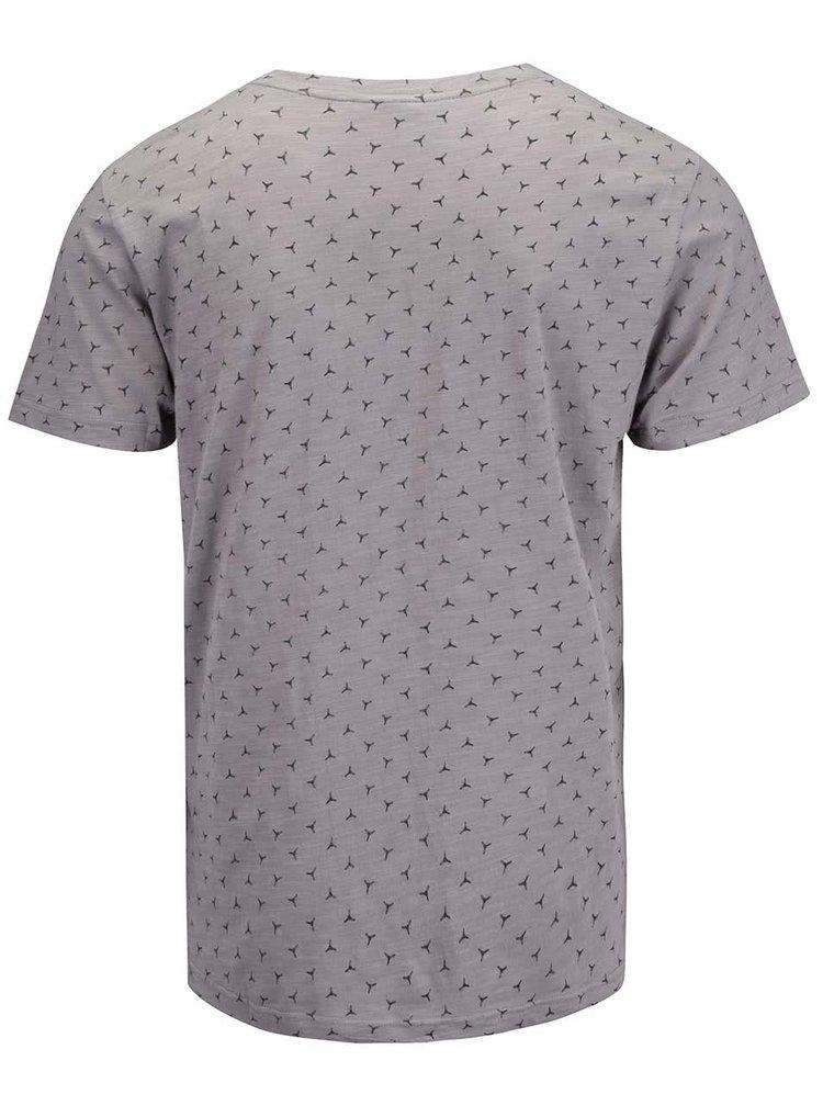 Šedé pánské triko s potiskem Ragwear Paddy