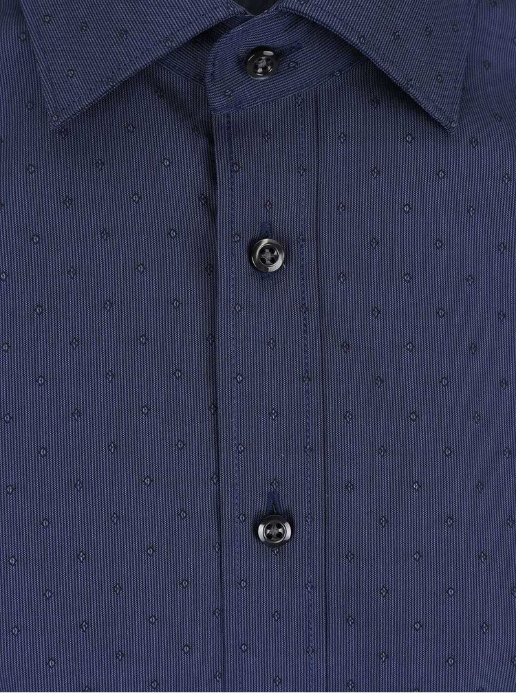 Tmavě modrá formální slim-fit košile Seven Seas