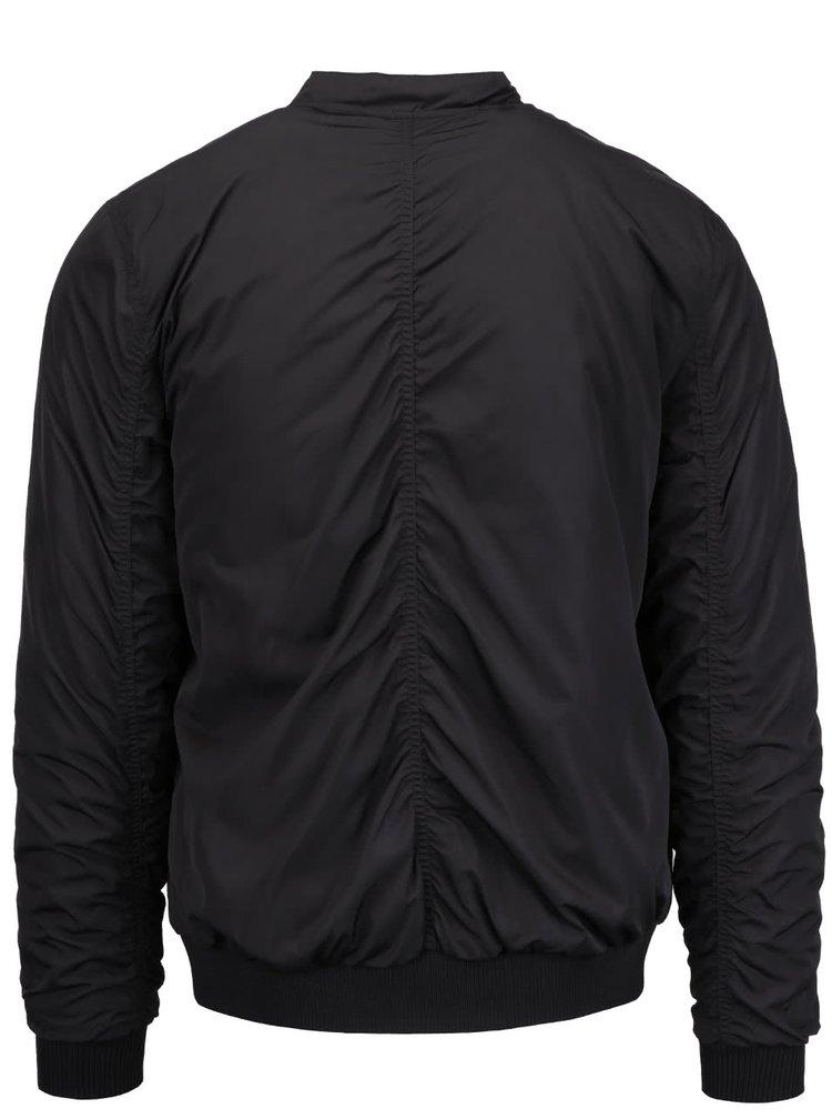 Jachetă bomber neagră Selected Homme Filson pentru bărbați