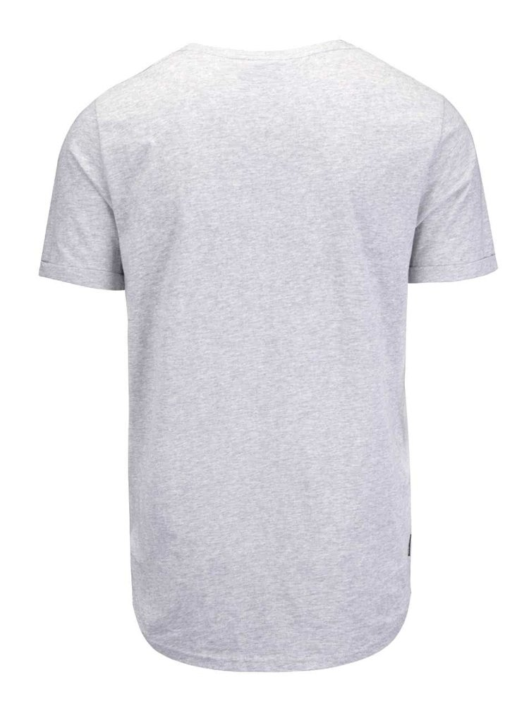 Šedé žíhané pánské triko s potiskem Ragwear Bartie