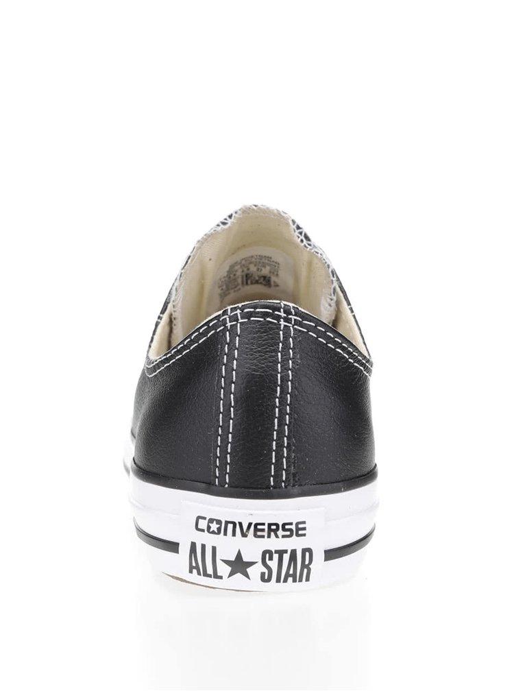 Černé unisex kožené tenisky Converse Chuck Taylor All Star