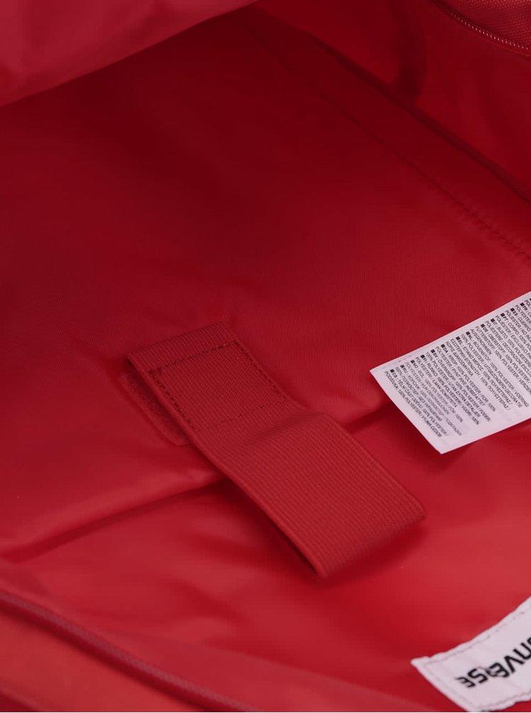 Červený batoh s logom Converse Core Poly