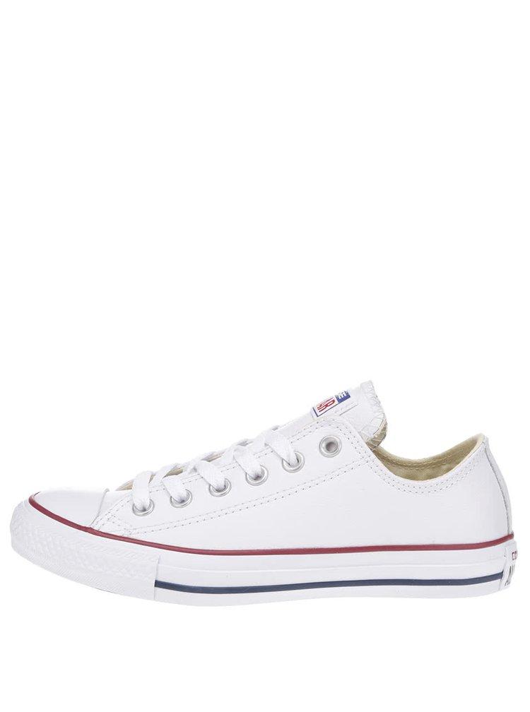 Bílé unisex kožené tenisky Converse Chuck Taylor All Star