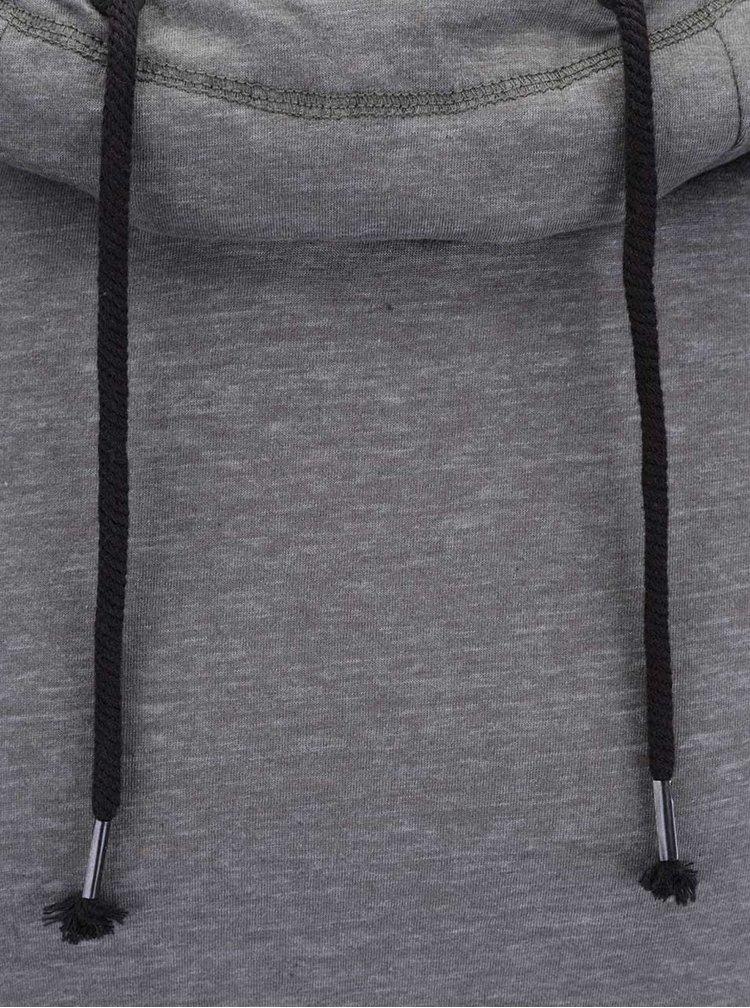 Sivá žíhaná ľahká pánska mikina s kapucňou Ragwear Edison B