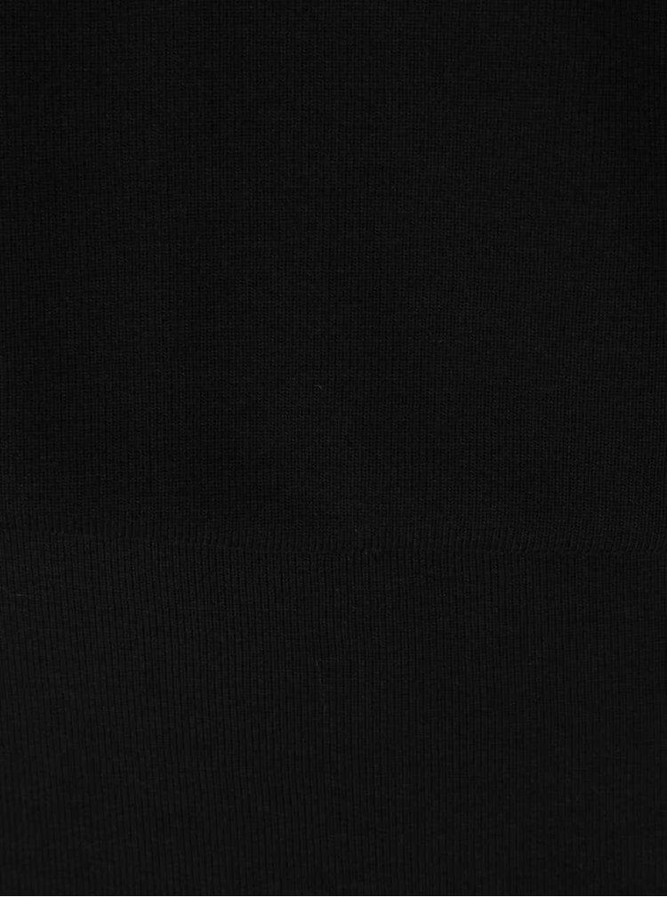 Čierne šaty s 3/4 rukávmi VERO MODA Orpo
