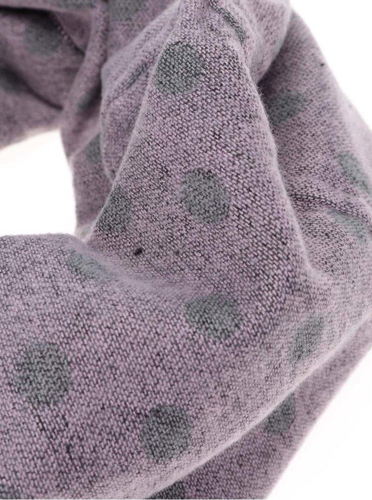 Šedo-růžová dutá šála Haily´s Punkte