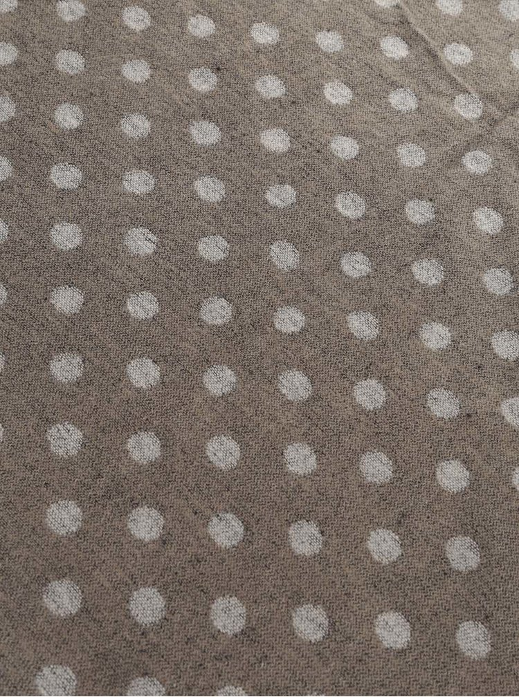 Šedobéžová dutá šála Haily´s Punkte