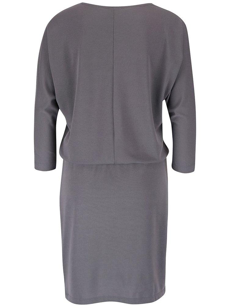 Sivé šaty s 3/4 rukávmi VERO MODA Orpo