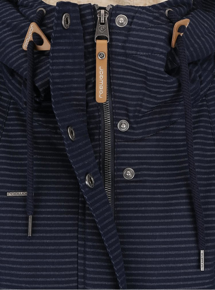 Tmavě modrá dámská bunda s kapucí Ragwear Monade