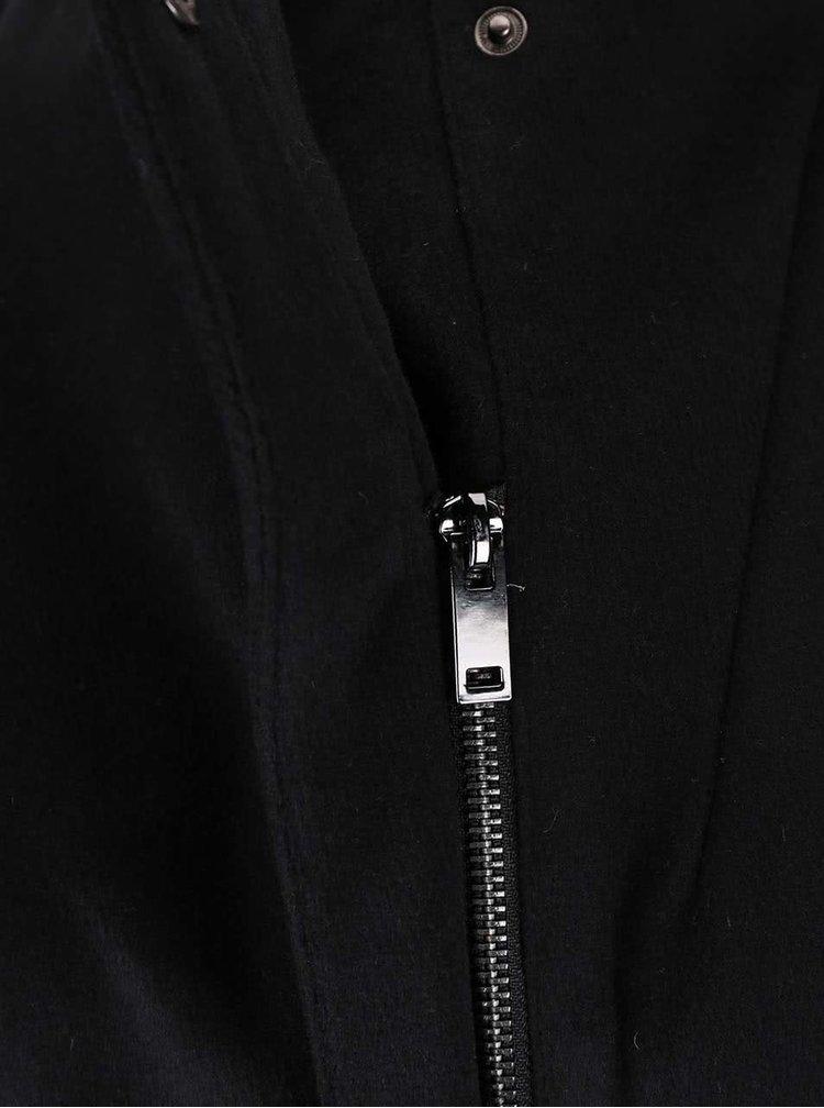 Černý kabát s páskem VERO MODA Call
