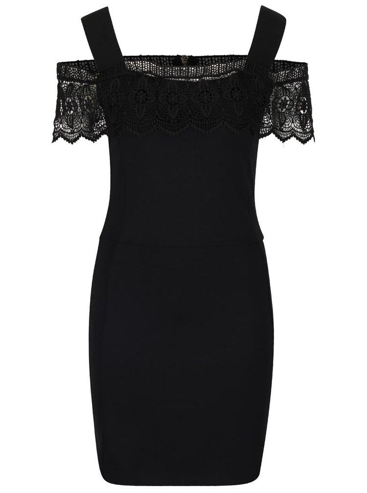 Černé pouzdrové šaty French Connection