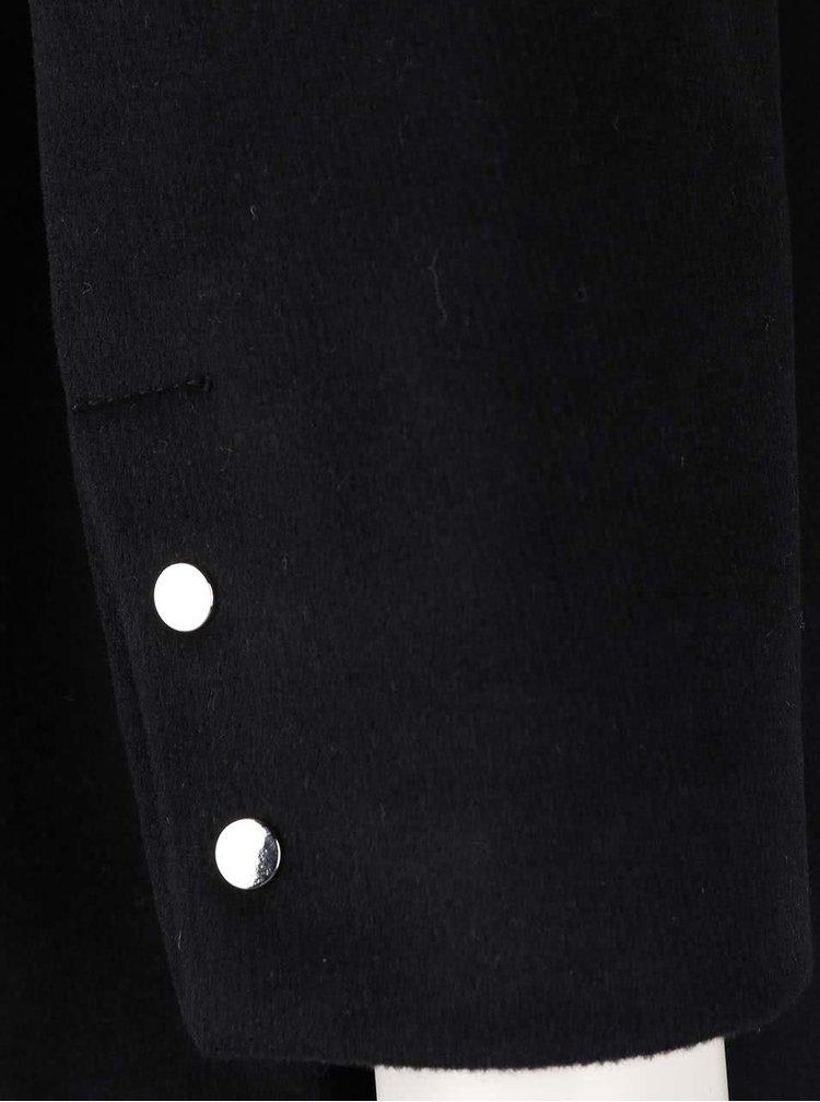 Černý kabát se zipem VERO MODA Turner