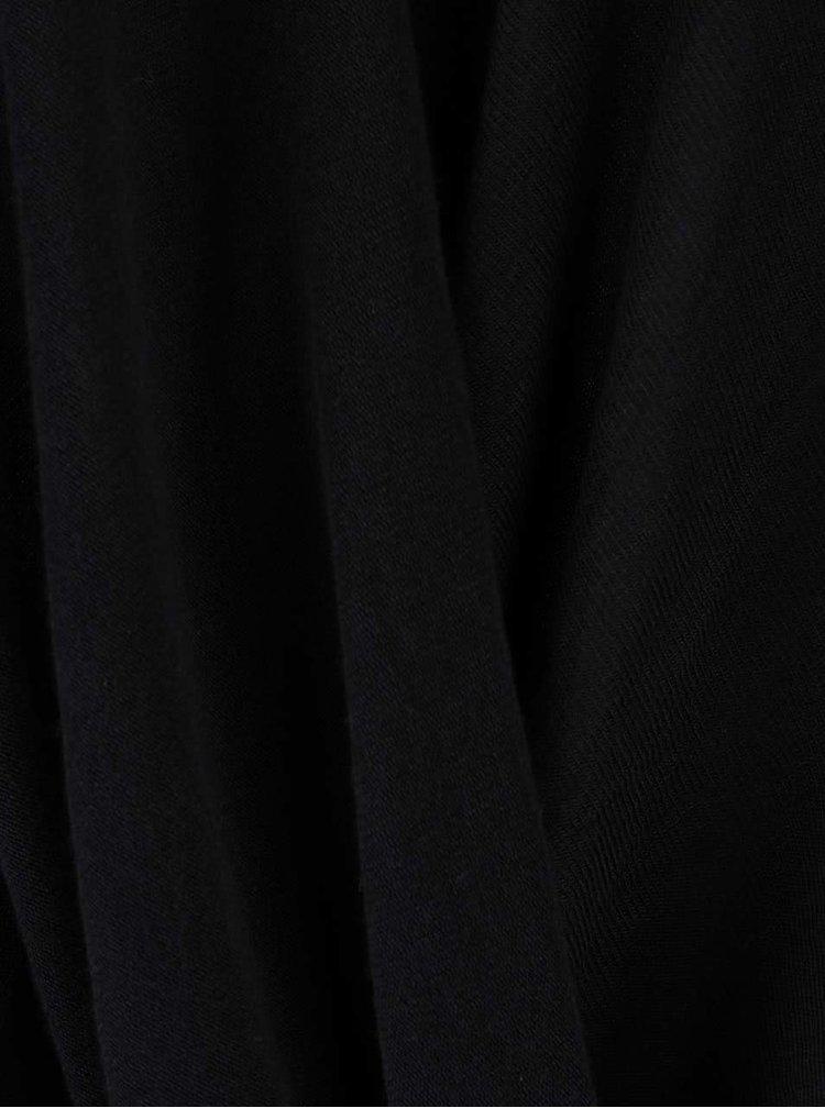 Černý volný top s dlouhým rukávem VERO MODA Honie