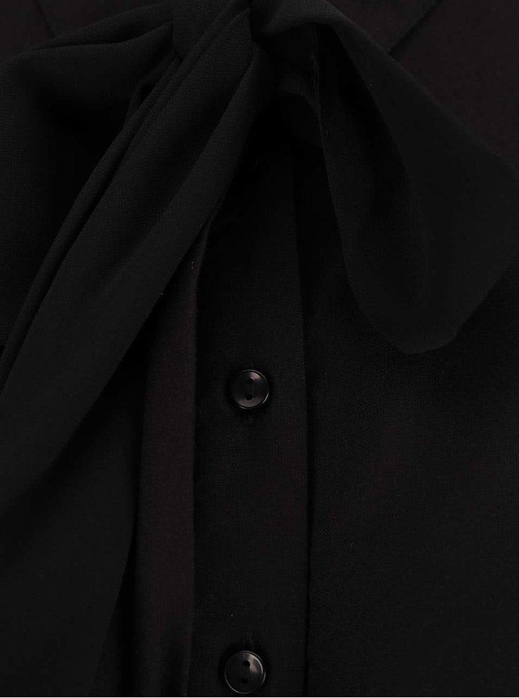 Čierna blúzka s mašľou VERO MODA Harly