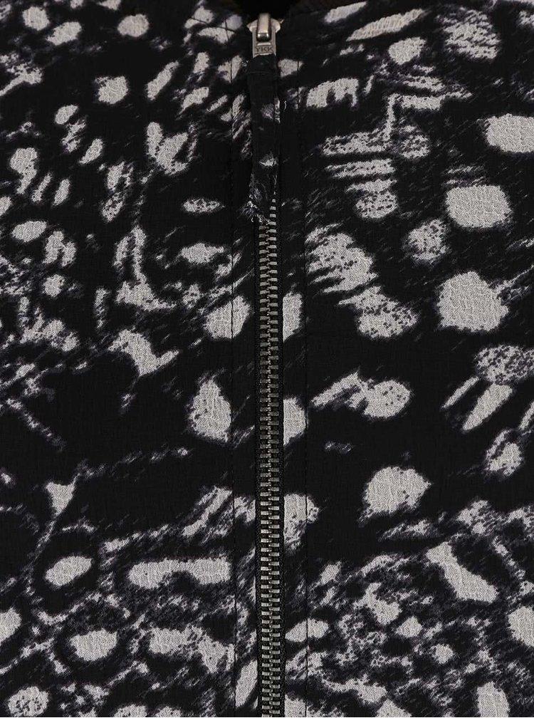 Černé vzorované volnější šaty VERO MODA Tea