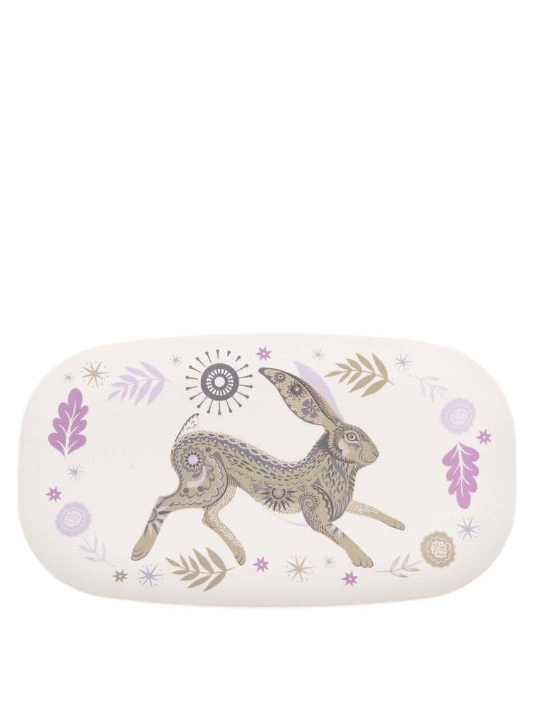 Bambusový oválny tanier s potlačou zajaca Magpie