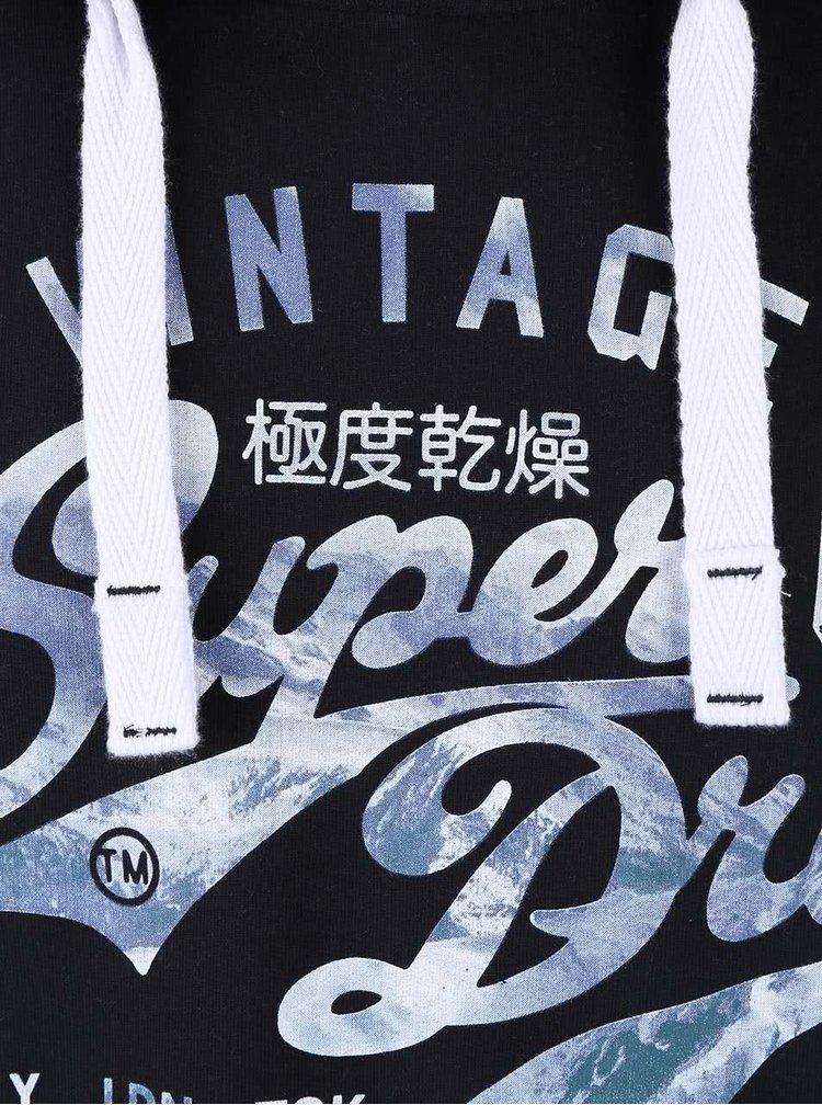 Čierna pánska mikina s potlačou Superdry