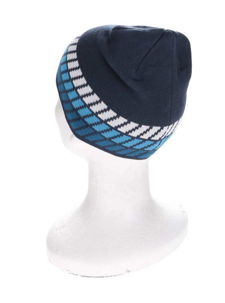 Tmavě modrá vzorovaná klučičí čepice name it Manto