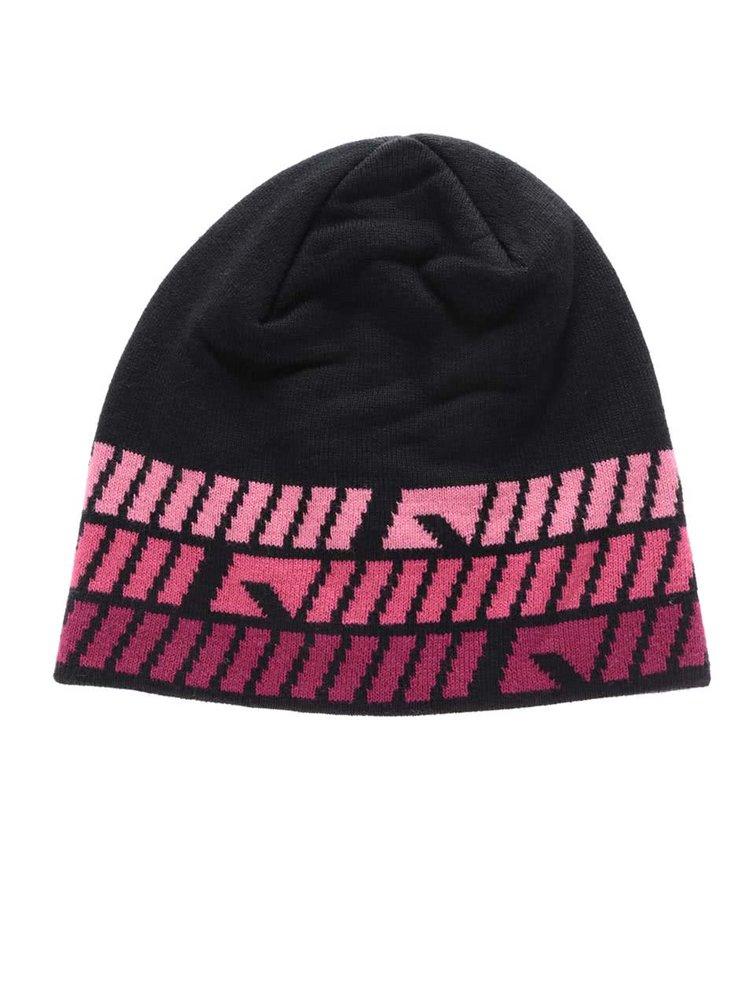 Černo-růžová vzorovaná čepice name it Manto