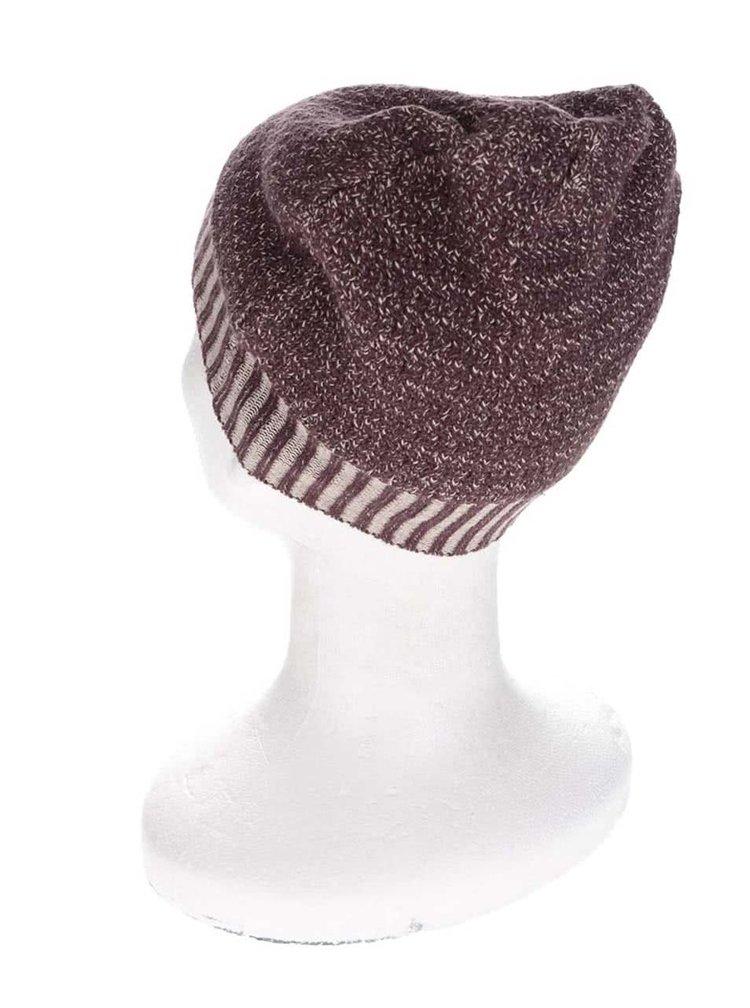 Vínová melírovaná dievčenská čiapka Name it Nitlouis