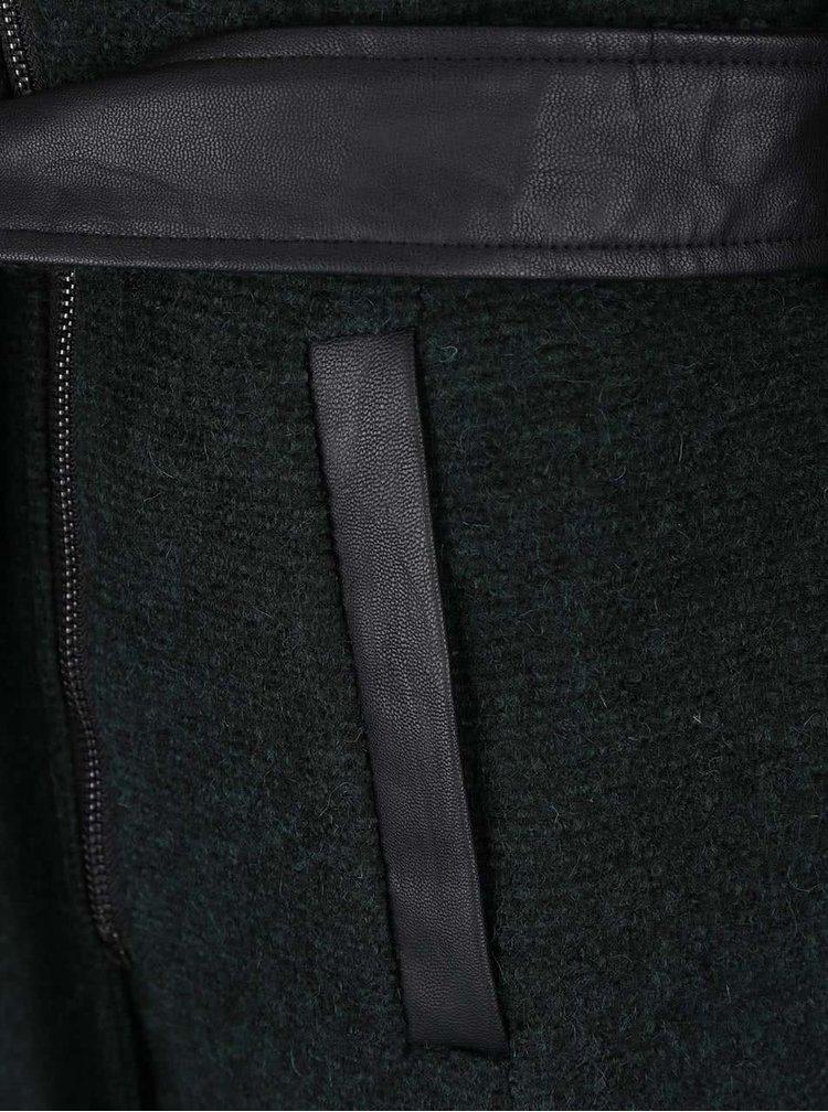 Palton verde închis ONLY Lisford cu glugă