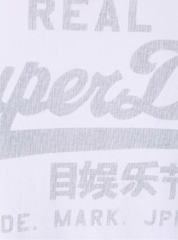 Bluză albă Superdry cu imprimeu
