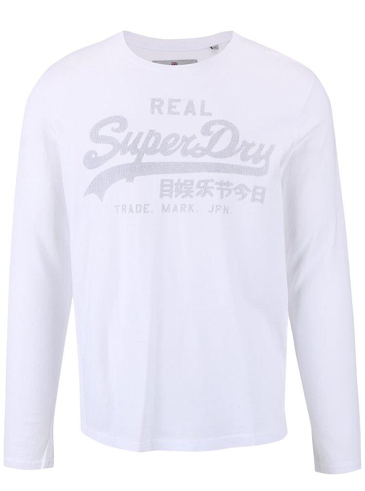 Bluza alba Superdry cu imprimeu