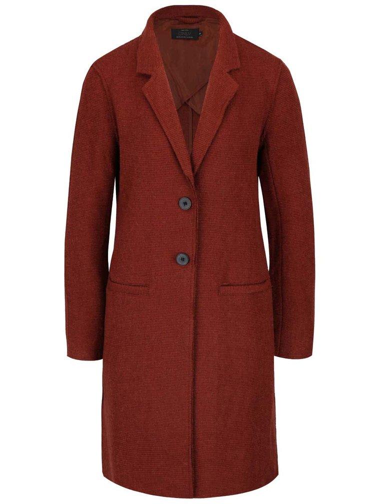 Červenohnedý ľahší kabát ONLY Ella