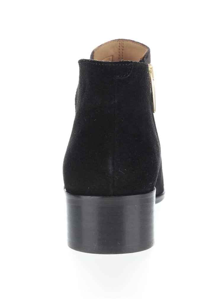 Čierne dámske semišové členkové topánky GANT Lisa