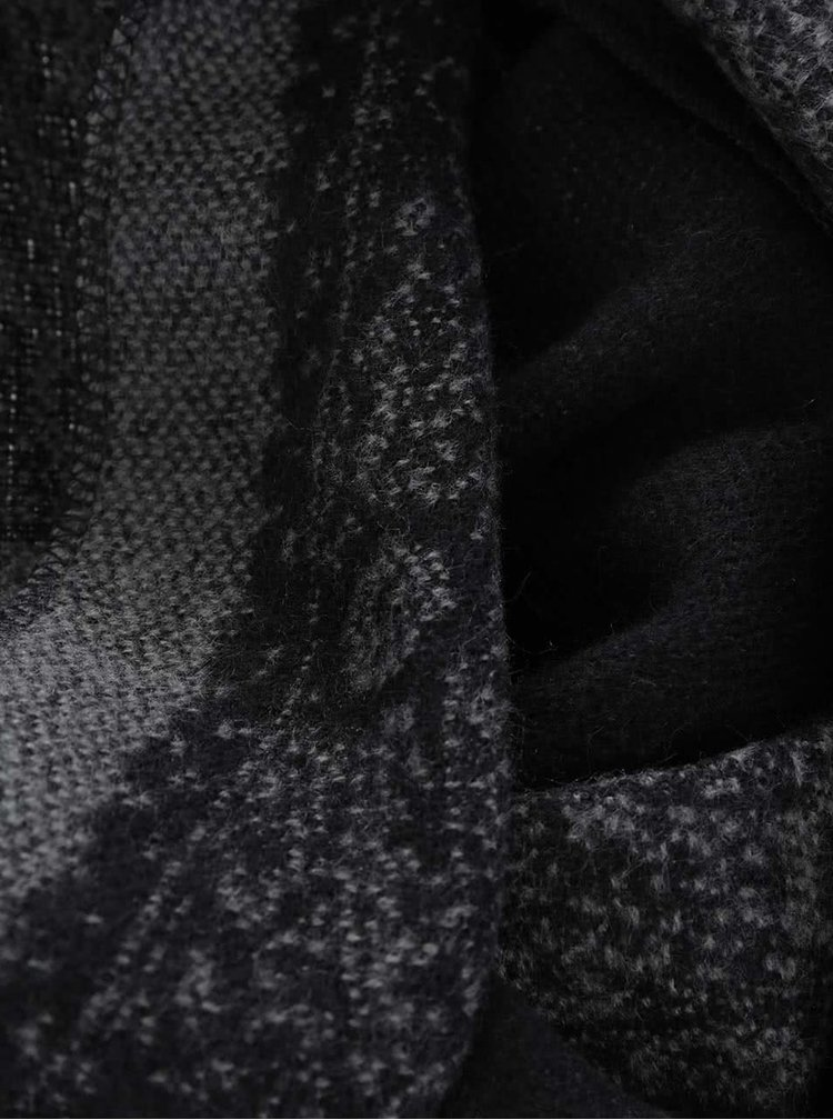 Sivo-čierny šál ONLY Soli
