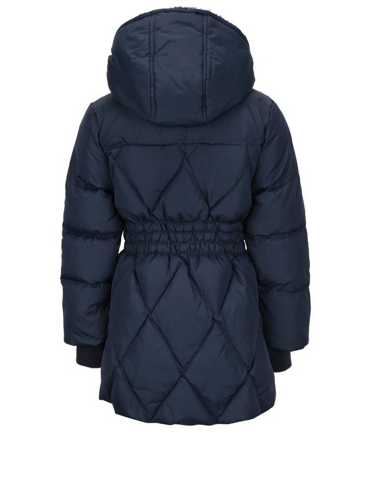 Tmavomodrá prešívaná dievčenská bunda Name it Nitmocca