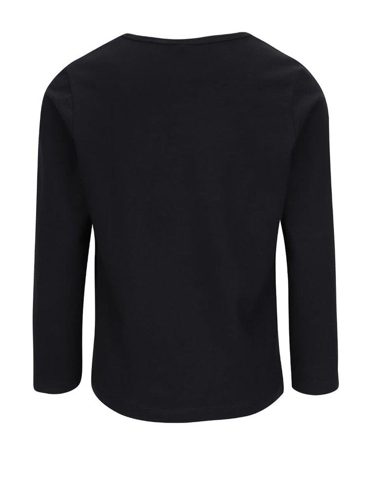 Černé holčičí tričko s dlouhým rukávem Name it Nitjack