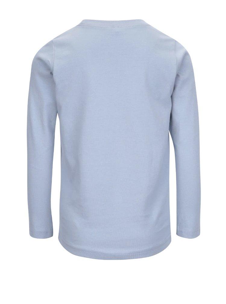 Modré klučičí triko s dlouhým rukávem Name it Nitvictor