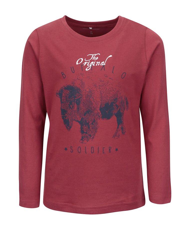 Červené klučičí triko s dlouhým rukávem name it Nitvictor