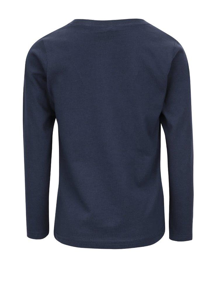 Tmavě modré klučičí triko s dlouhými rukávy Name it Nitvictor